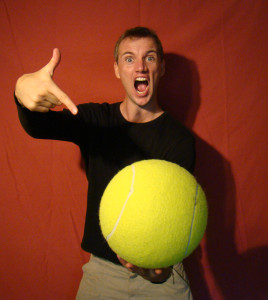pete giant tennis ball